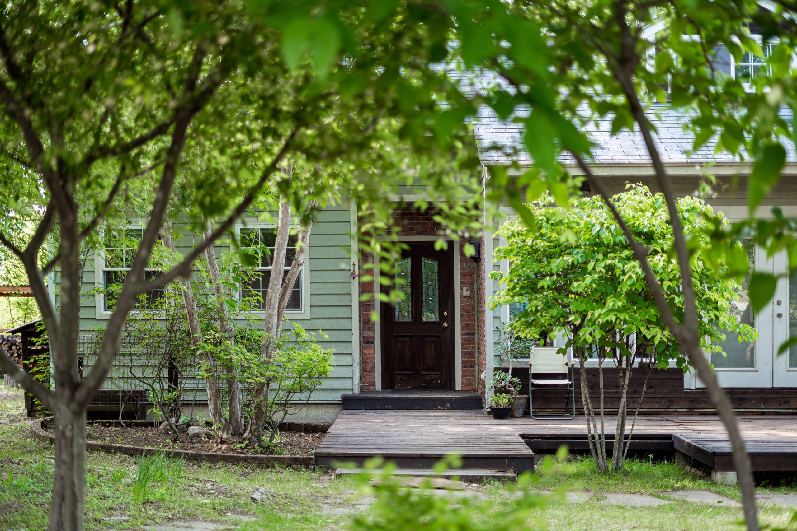 自宅件仕事場の玄関